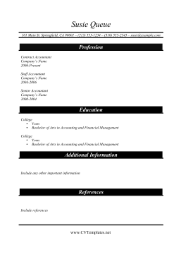 Accountant CV Template (A4)