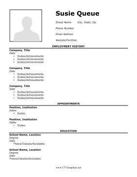 CV with Picture