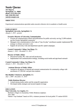 Communications Director CV (A4)