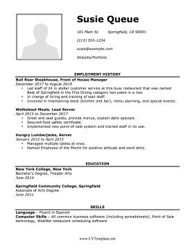 Detailed CV with Picture Letter