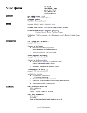 Expertise CV Template