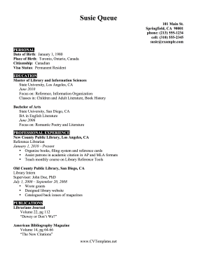 Attractive Librarian CV Ideas Librarian Cv