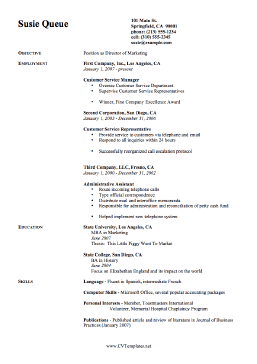 Marketing CV Template (A4)