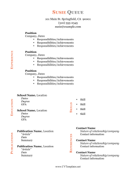 Sideways Color CV
