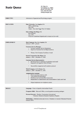 Accounting Curriculum Vitae Template