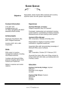 Office Assistant CV (A4)